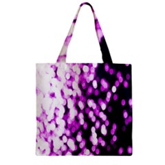 Bokeh Background In Purple Color Zipper Grocery Tote Bag