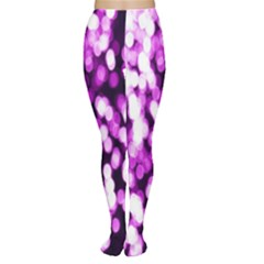 Bokeh Background In Purple Color Women s Tights