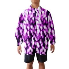 Bokeh Background In Purple Color Wind Breaker (kids)