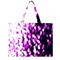 Bokeh Background In Purple Color Large Tote Bag