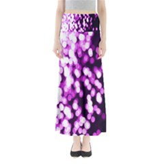 Bokeh Background In Purple Color Maxi Skirts