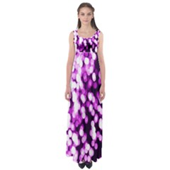 Bokeh Background In Purple Color Empire Waist Maxi Dress