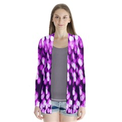 Bokeh Background In Purple Color Cardigans