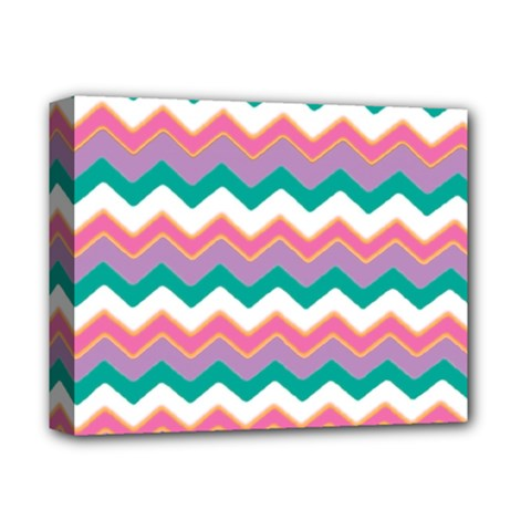 Chevron Pattern Colorful Art Deluxe Canvas 14  X 11