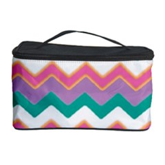 Chevron Pattern Colorful Art Cosmetic Storage Case