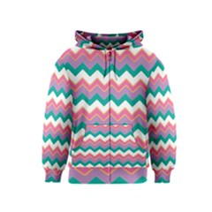 Chevron Pattern Colorful Art Kids  Zipper Hoodie