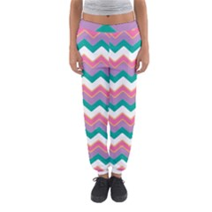 Chevron Pattern Colorful Art Women s Jogger Sweatpants