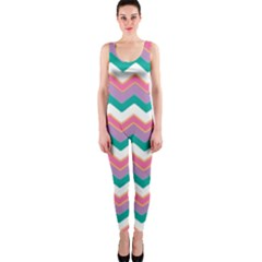 Chevron Pattern Colorful Art Onepiece Catsuit