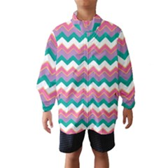 Chevron Pattern Colorful Art Wind Breaker (kids)