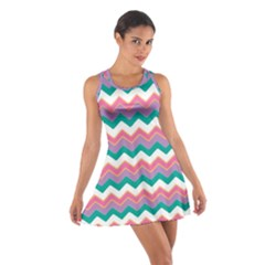 Chevron Pattern Colorful Art Cotton Racerback Dress