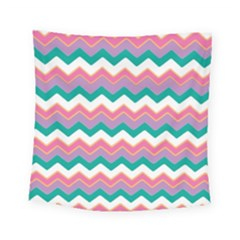 Chevron Pattern Colorful Art Square Tapestry (small)