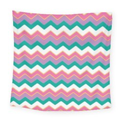 Chevron Pattern Colorful Art Square Tapestry (large)