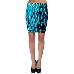 Bokeh Background In Blue Color Bodycon Skirt