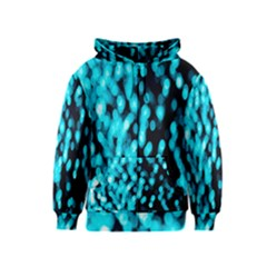 Bokeh Background In Blue Color Kids  Zipper Hoodie