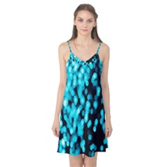 Bokeh Background In Blue Color Camis Nightgown