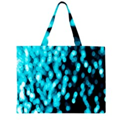 Bokeh Background In Blue Color Large Tote Bag