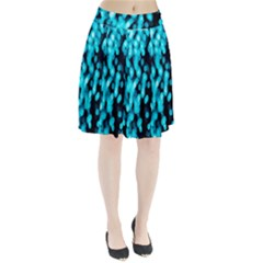 Bokeh Background In Blue Color Pleated Skirt