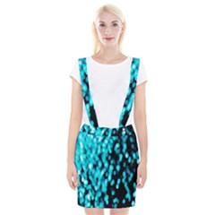 Bokeh Background In Blue Color Suspender Skirt