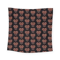 Dark Conversational Pattern Square Tapestry (small)
