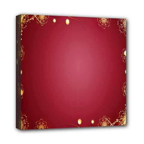 Red Background With A Pattern Mini Canvas 8  X 8