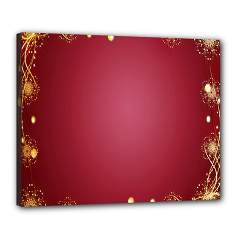 Red Background With A Pattern Canvas 20  X 16