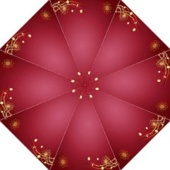 Red Background With A Pattern Straight Umbrellas
