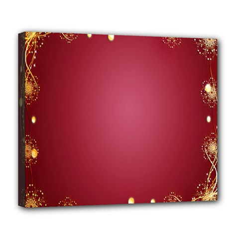 Red Background With A Pattern Deluxe Canvas 24  X 20