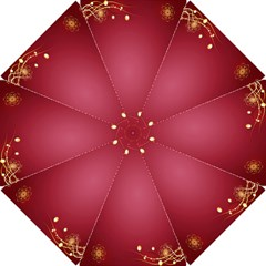 Red Background With A Pattern Hook Handle Umbrellas (small)