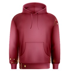 Red Background With A Pattern Men s Pullover Hoodie
