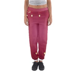 Red Background With A Pattern Women s Jogger Sweatpants