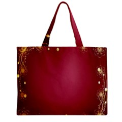Red Background With A Pattern Zipper Mini Tote Bag