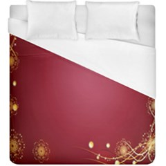 Red Background With A Pattern Duvet Cover (king Size)