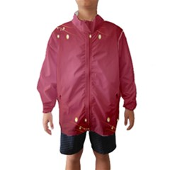 Red Background With A Pattern Wind Breaker (kids)