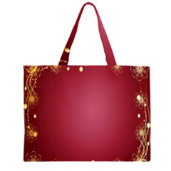 Red Background With A Pattern Large Tote Bag