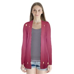 Red Background With A Pattern Cardigans