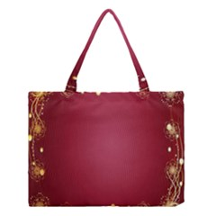 Red Background With A Pattern Medium Tote Bag