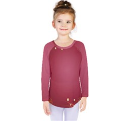 Red Background With A Pattern Kids  Long Sleeve Tee