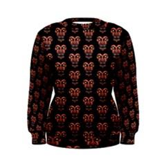 Dark Conversational Pattern Women s Sweatshirt