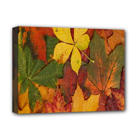 Colorful Autumn Leaves Leaf Background Deluxe Canvas 16  X 12