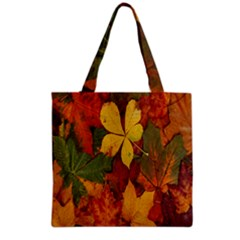 Colorful Autumn Leaves Leaf Background Grocery Tote Bag