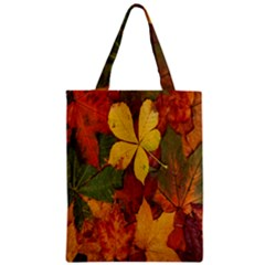Colorful Autumn Leaves Leaf Background Classic Tote Bag