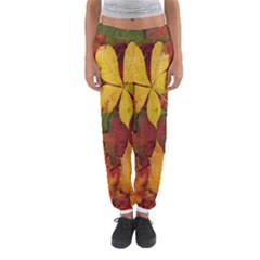 Colorful Autumn Leaves Leaf Background Women s Jogger Sweatpants