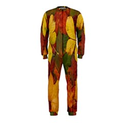 Colorful Autumn Leaves Leaf Background Onepiece Jumpsuit (kids)