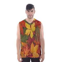 Colorful Autumn Leaves Leaf Background Men s Basketball Tank Top