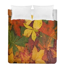 Colorful Autumn Leaves Leaf Background Duvet Cover Double Side (full/ Double Size)
