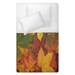 Colorful Autumn Leaves Leaf Background Duvet Cover (single Size)