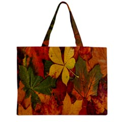 Colorful Autumn Leaves Leaf Background Medium Tote Bag