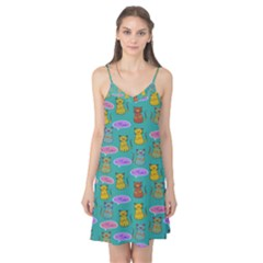 Meow Cat Pattern Camis Nightgown