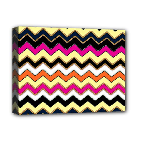 Colorful Chevron Pattern Stripes Deluxe Canvas 16  X 12
