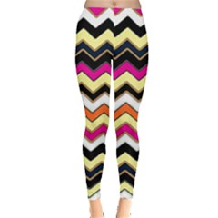Colorful Chevron Pattern Stripes Leggings
